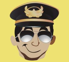 Sexy funny cool pilot in uniform hat Kids Clothes