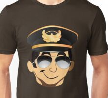 Sexy funny cool pilot in uniform hat Unisex T-Shirt