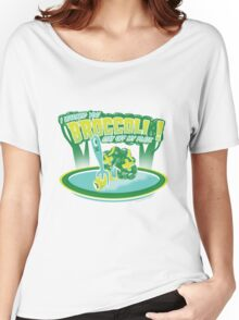 I WARNED YOU BROCCOLI STAY OFF MY PLATE!! Women's Relaxed Fit T-Shirt