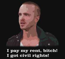 Pinkman - I pay my rent, bitch! I got civil rights! by jgdias94