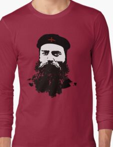 Ned Kelly Meets Che - any colour shirt Long Sleeve T-Shirt