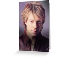 Jon Bon Jovi Greeting Card