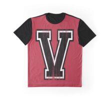 Big Varsity Letter V Graphic T-Shirt