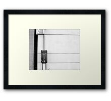 Wrong Number Framed Print