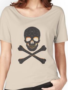 Skull and crossbones  danger warning  Women's Relaxed Fit T-Shirt