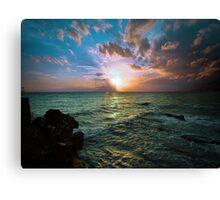 Emerald Ocean Canvas Print