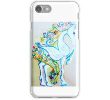 Floral horse iPhone Case/Skin