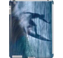 Blue wave iPad Case/Skin