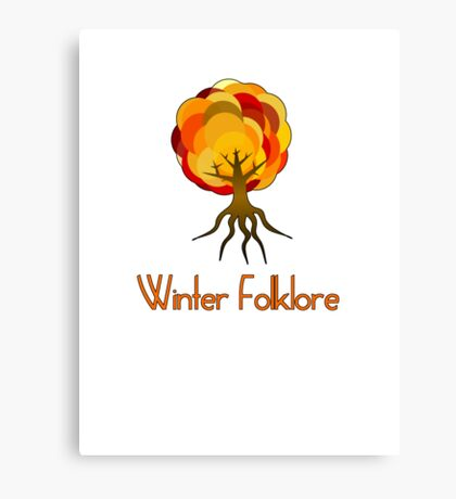 winter folklore fall tree novelty tee  Canvas Print