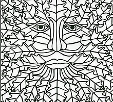 Green Man - 1 by MrsTreefrog
