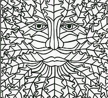 Green Man - 1 by MrsTreefrog