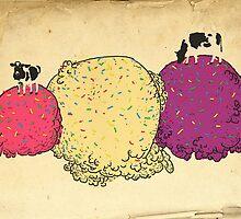Cows love ice cream by eponymon
