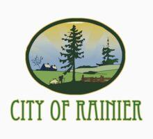 city of Rainier Washington truck stop novelty  One Piece - Long Sleeve
