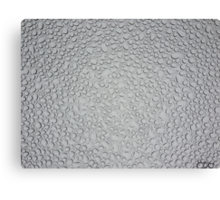 Water Droplets on Tempered Glass Canvas Print