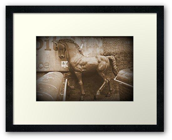 Iron Horse in The Rain by Ed Sweetman