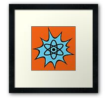 Dynamic Atomic symbol cartoon style science geek gifts Framed Print
