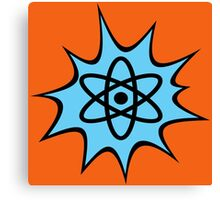 Dynamic Atomic symbol cartoon style science geek gifts Canvas Print