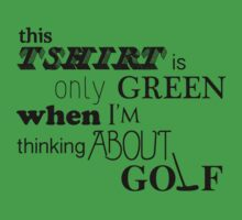 golf on my mind by Shannon  Dand