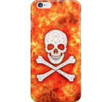 Skull and crossbones red danger warning iPhone Case/Skin