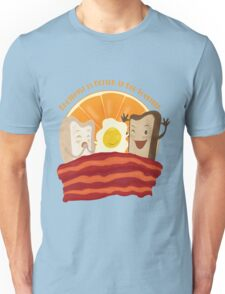 Breakfast Is Better In Bed Together Unisex T-Shirt