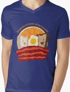 Breakfast Is Better In Bed Together Mens V-Neck T-Shirt