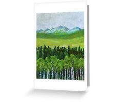 The abstract in Nature, acrylic on canvas Greeting Card