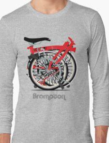 Brompton Bicycle Folded Long Sleeve T-Shirt