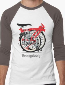 Brompton Bicycle Folded Men's Baseball ¾ T-Shirt