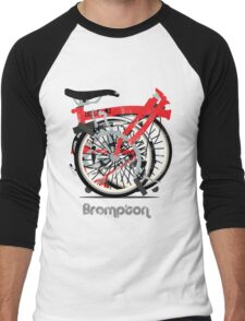 Brompton Bicycle Folded Men's Baseball ¾ T-Shirt