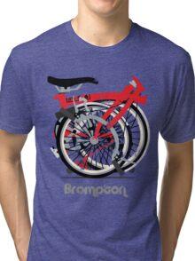 Brompton Bicycle Folded Tri-blend T-Shirt