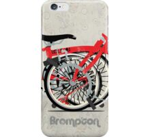Brompton Bicycle Folded iPhone Case/Skin
