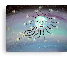 Sleeping Moon - Whimsical Art by Valentina Miletic Canvas Print