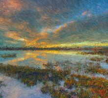The Seagrass Sunset by ManateesDesign