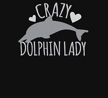 CRAZY Dolphin lady Womens Fitted T-Shirt
