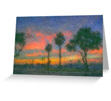 The Pink Salmon Sunset Greeting Card