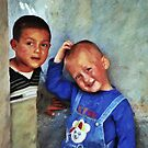 Shy Kurdish boys by Adam Asar