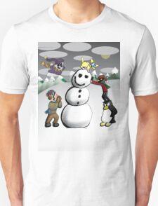 Wobbly Snowman Unisex T-Shirt