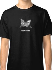 Grumpy Cat Does Not Care Classic T-Shirt