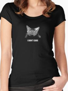 Grumpy Cat Does Not Care Women's Fitted Scoop T-Shirt