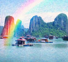 Heavenly cove and land of rainbow by Adam Asar