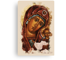 Heavenly Mother and baby Canvas Print