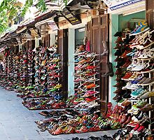 Shoe Shops in a Row © by Ethna Gillespie