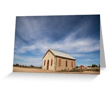 Church, Silverton, Outback NSW Greeting Card