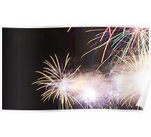 Melbourne Docklands Fireworks display Poster