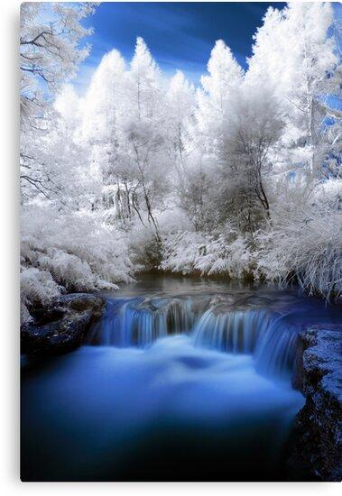 Kerosine creek in infrared 2 by Paul Mercer