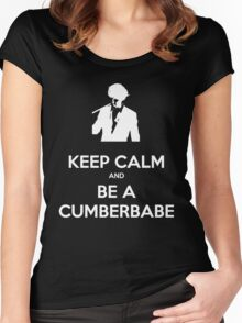 Keep Calm and be a Cumberbabe Women's Fitted Scoop T-Shirt