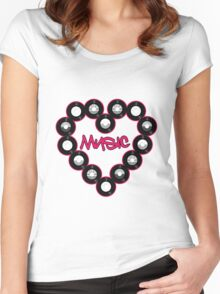 Love Music Women's Fitted Scoop T-Shirt