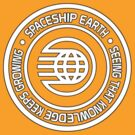 Epcot Button Spaceship Earth White by AngrySaint