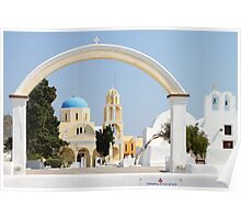 Churches with Archway, Oia, Santorini Poster