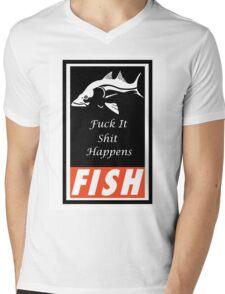 F.I.S.H Mens V-Neck T-Shirt